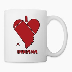 i heart Indiana (red) Bottles & Mugs
