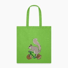 Squirrel on Bike with Accord Wheels Bags & backpacks