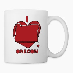 i heart Oregon (red) Bottles & Mugs