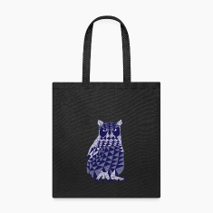 triangle owl (blue) Bags & backpacks