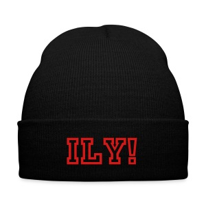 ILY - Knit Cap with Cuff Print