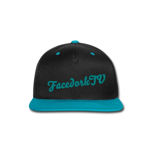 The FacedorkCap  black-blue - Snap-back Baseball Cap