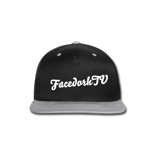 The FAcedorkCap marineblue-White - Snap-back Baseball Cap