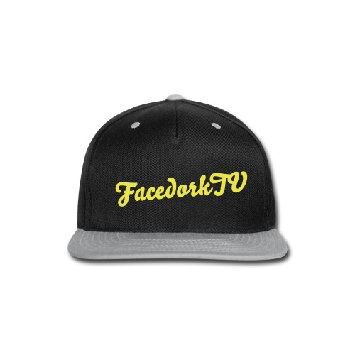 The FacedorkCap Black-Yellow - Snap-back Baseball Cap