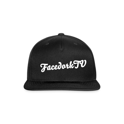 The FacedorkCap black-white - Snap-back Baseball Cap