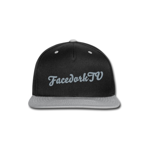 The FacedorkCap black-silver - Snap-back Baseball Cap