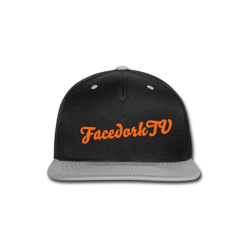 The FacedorkCap black-orange - Snap-back Baseball Cap