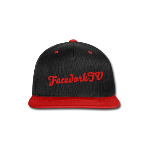 The FacedorkCap Black-Red - Snap-back Baseball Cap