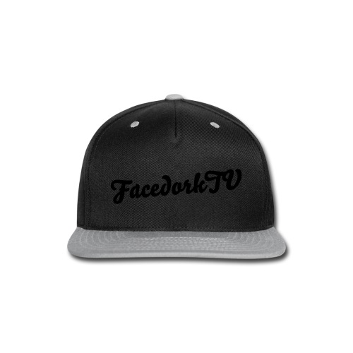 The Facedorkcap silver-black - Snap-back Baseball Cap