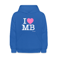 Sweatshirts ~ Kids' Hoodie ~ I Heart MB Kids Hoodie