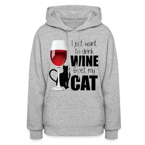 Wine Cat hoodie - Women's Hoodie