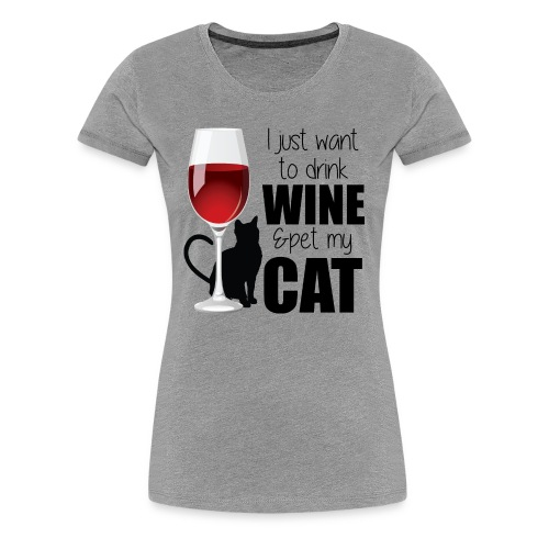 Wine Cat tee - Women's Premium T-Shirt