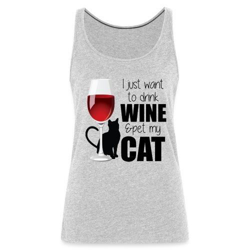 Wine Cat tank - Women's Premium Tank Top