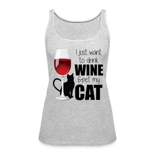 Wine Cat tank - Women's Premium Tank Top