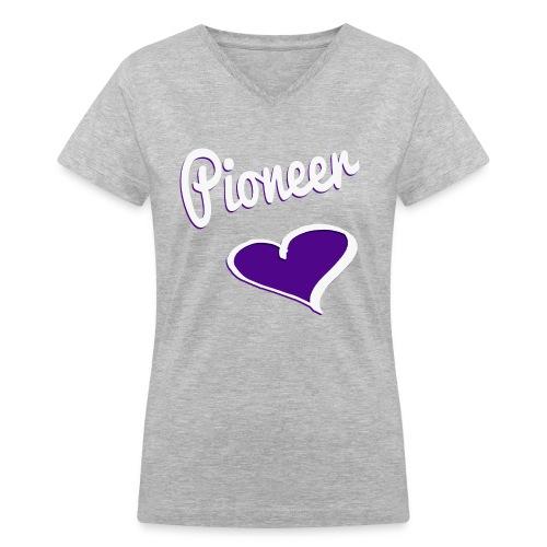 Pioneer Love V-Neck - Women's V-Neck T-Shirt