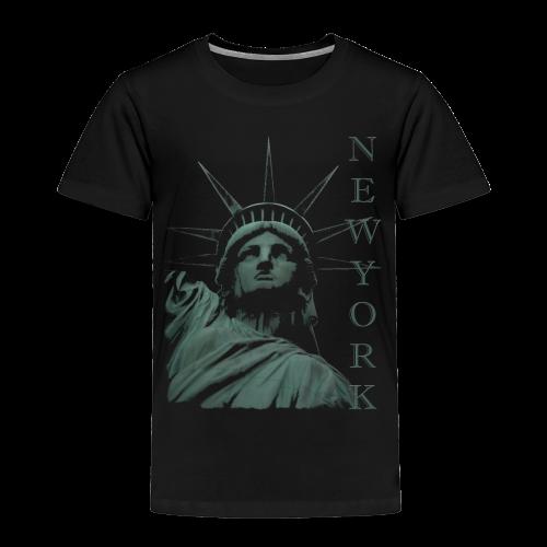 New York Souvenir T-shirts Statue of Liberty Shirts - Toddler Premium T-Shirt