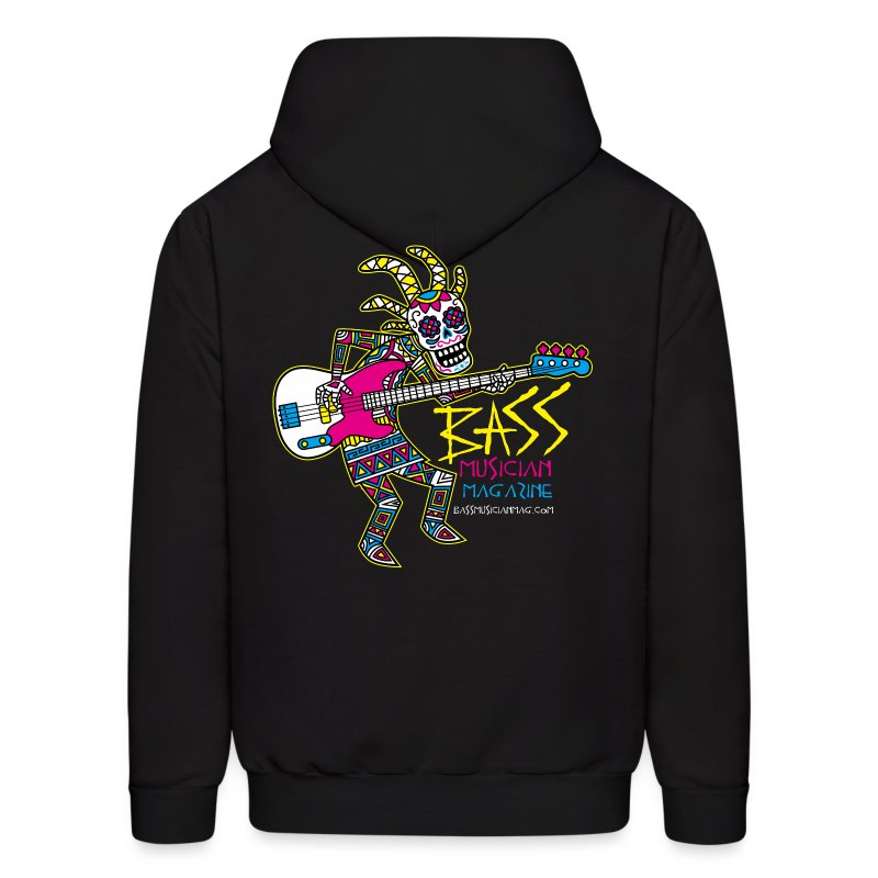 [mens] Kokopelli Bass Sweatshirt - Signature Bass Musician Magazine Design - Men's Hoodie