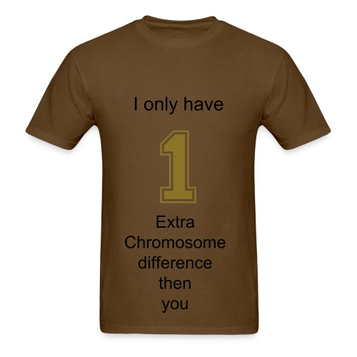 One Chromosome difference - Men's T-Shirt