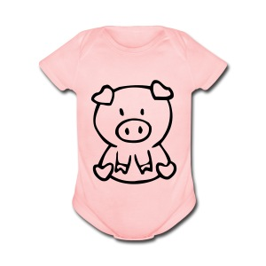 Little Pig (1) - Short Sleeve Baby Bodysuit