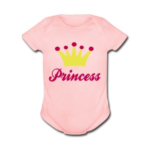 Princess (2) - Short Sleeve Baby Bodysuit
