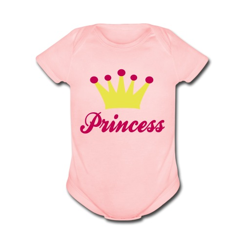 Princess (2) - Organic Short Sleeve Baby Bodysuit