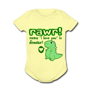 Rawr Means I Love You - Short Sleeve Baby Bodysuit