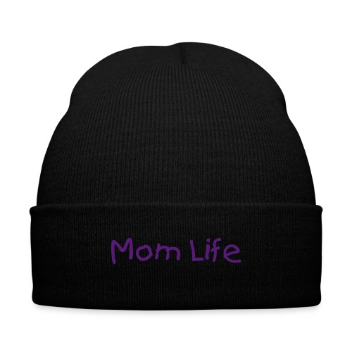 #MomLife - Knit Cap with Cuff Print