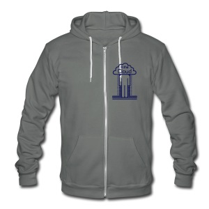 In the Cloud Zip Hoodies & Jackets - Unisex Fleece Zip Hoodie by American Apparel