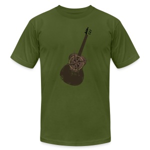 Mens Vintage Compass Guitar T - Fall - Men's Fine Jersey T-Shirt