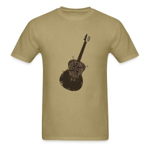 Mens Vintage Compass Guitar T - Almond - Men's T-Shirt