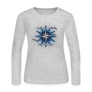 Womens Vintage Compass Long - Heather - Women's Long Sleeve Jersey T-Shirt
