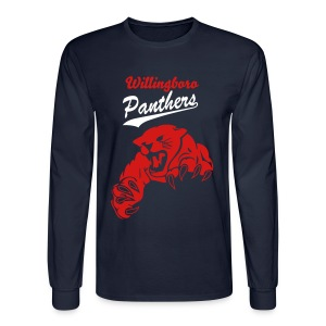 Men's Red Willingboro Panthers Long Sleeve Shirt - Men's Long Sleeve T-Shirt