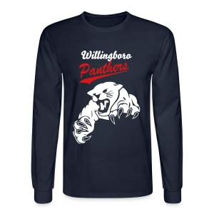 Men's White Willingboro Panthers Long Sleeve Shirt - Men's Long Sleeve T-Shirt
