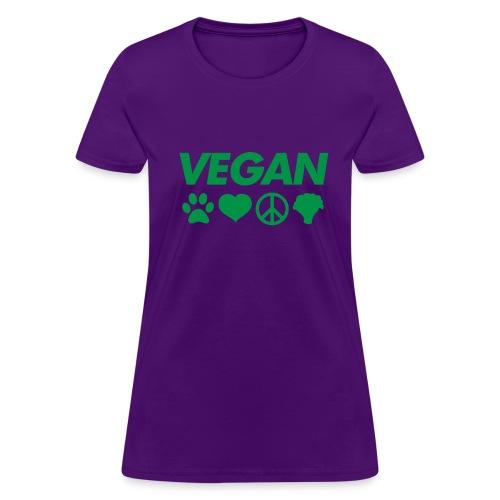 Vegan symbol women's t shirt - Women's T-Shirt