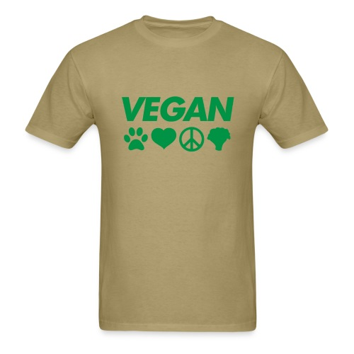 Vegan symbol  t shirt - Men's T-Shirt