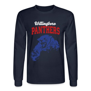 Men's Blue Willingboro Panthers Long Sleeve Shirt - Men's Long Sleeve T-Shirt