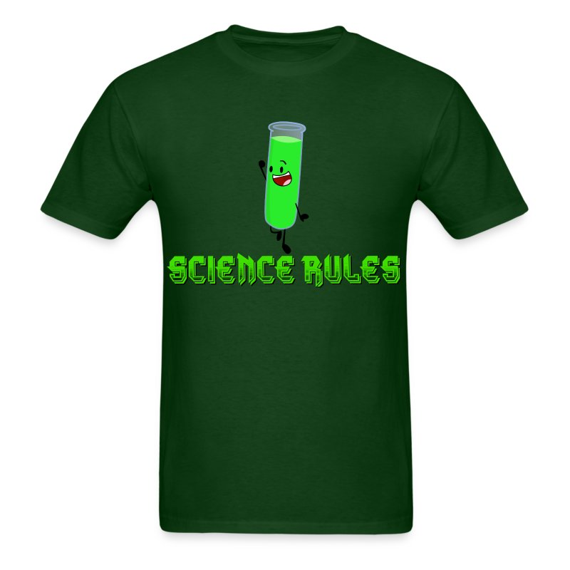 Men's Test Tube Science Rules T-Shirt - Men's T-Shirt