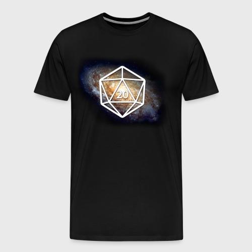 Space Geek Galaxy d20 - Men's Premium T-Shirt