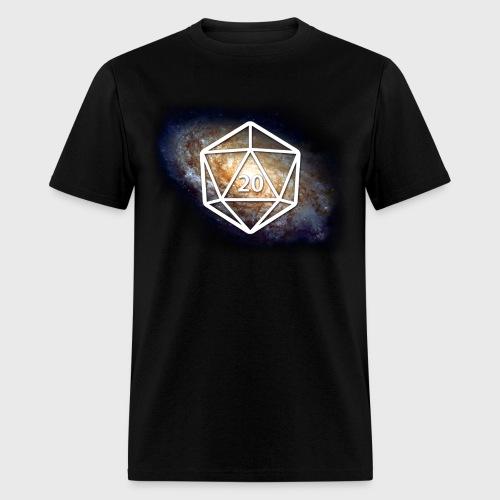 Space Geek Galaxy d20 - Men's T-Shirt