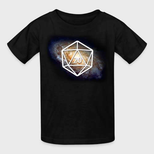 Space Geek Galaxy d20 - Kids' T-Shirt