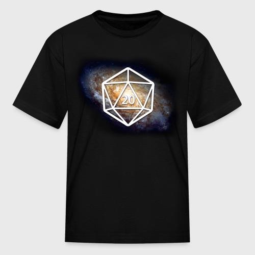 Space Geek Galaxy d20 - Kids' T-Shirt