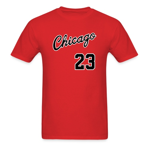 Retro Chicago 23 - Red Tee - Men's T-Shirt