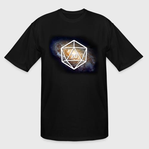 Space Geek Galaxy d20 - Men's Tall T-Shirt