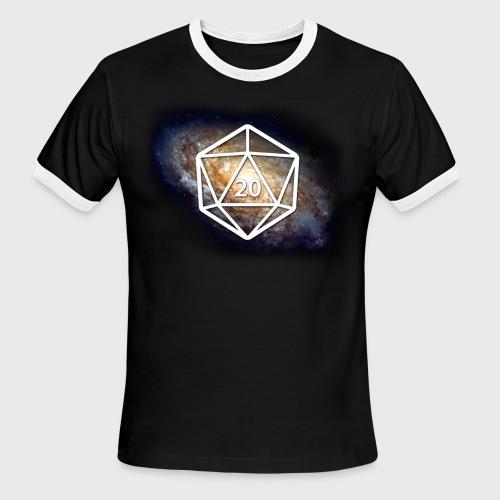 Space Geek Galaxy d20 - Men's Ringer T-Shirt