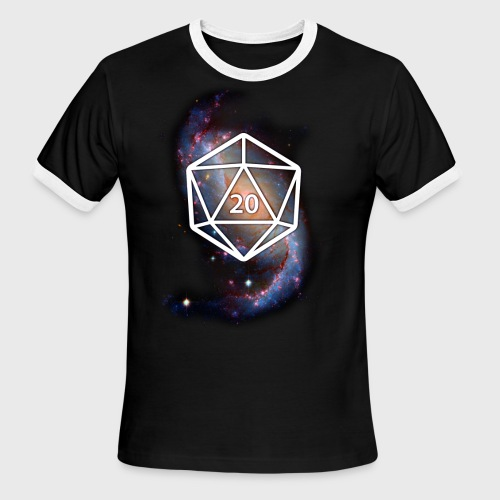 Astronomy Space Galaxy Geek d20 - Men's Ringer T-Shirt