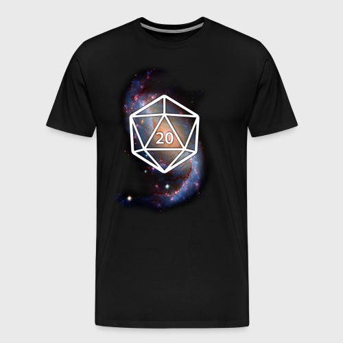 Astronomy Space Galaxy Geek d20 - Men's Premium T-Shirt