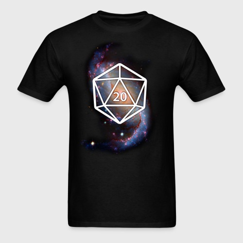 Astronomy Space Galaxy Geek d20 - Men's T-Shirt