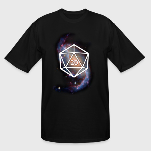 Astronomy Space Galaxy Geek d20 - Men's Tall T-Shirt