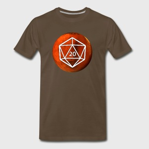 Mars Astronomy d20 Space Dice - Men's Premium T-Shirt