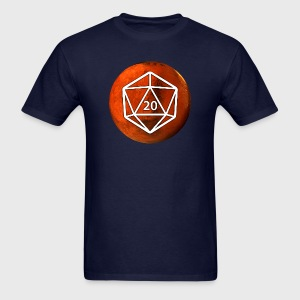 Mars Astronomy d20 Space Dice - Men's T-Shirt
